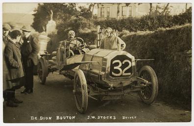 J.W. Stocks, 1908 Tourist Trophy motorcar race