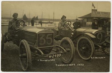 Thornycroft cars arriving at Douglas, 1908 Tourist Trophy…