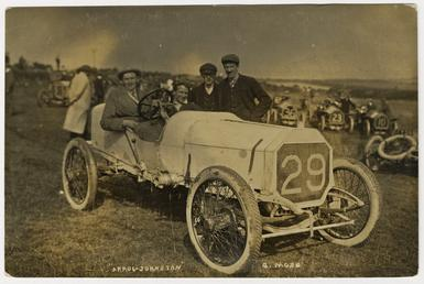 G. Moss in an Arrol-Johnston, 1908 Tourist Trophy…