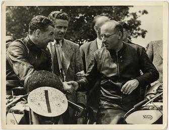 Harold Daniell and team mate Artie Bell, 1949…