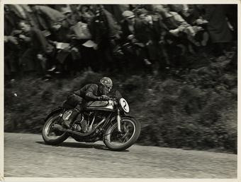 Nick Nicholson riding Norton number 2, Kate's Cottage,…