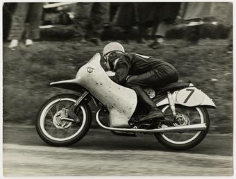 Rupert Hollans, riding NSU number 7, 1954 Lightweight…