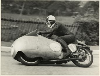 Cecil Sandford, riding as number 17, 1955 TT…