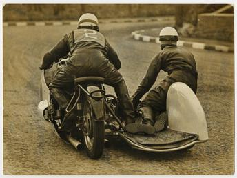Fritz Hillebrand, riding as number 2, 1956 Sidecar…