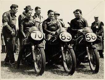 The Junior A.J.S. Team, 1956 Junior TT (Tourist…