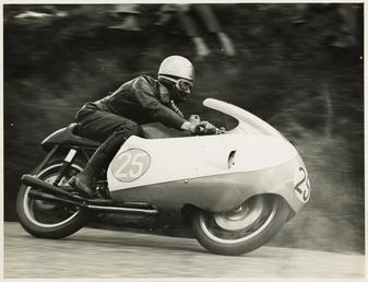 Bob Brown, TT (Tourist Trophy) rider, riding as…