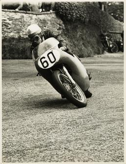 Eric Hinton, TT (Tourist Trophy) rider, riding 500cc…