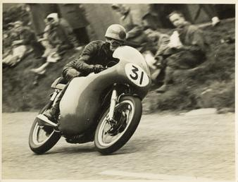 Dave Chadwick, TT (Tourist Trophy) rider riding as…