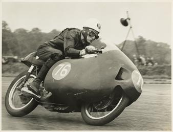 Alistair King, TT (Tourist Trophy) rider riding as…