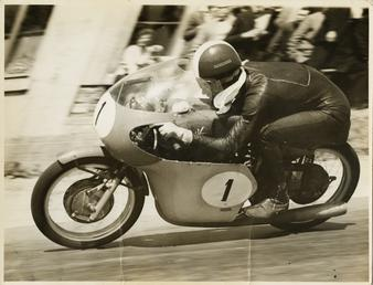 Tarquino Provini, TT (Tourist Trophy) rider riding MV…