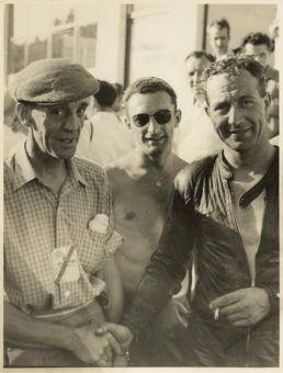 TT (Tourist Trophy) riders Jack Brett (left) and…