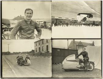 TT (Tourist Trophy) sidecar at Birchleigh Terrace, Onchan