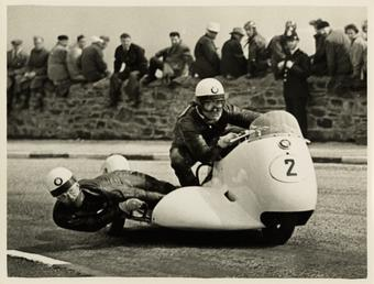 TT (Tourist Trophy) BMW sidecar outfit (number 2)