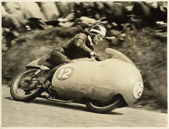 Bill Lomas TT (Tourist Trophy) rider aboard machine…
