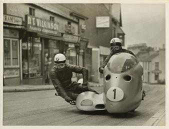 Wilhelm Noll and Fritz Cron, 1955 Sidecar TT…