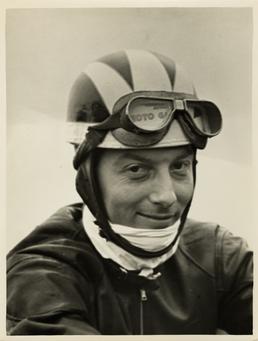 TT (Tourist Trophy) rider Bill Lomas wearing Moto…