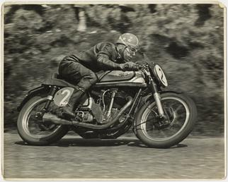 Nick Nicholson, TT (Tourist Trophy) riding Norton (number…