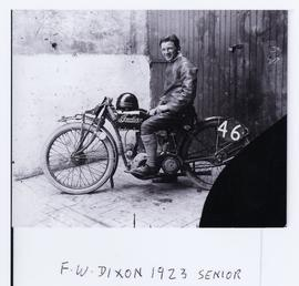 F.W. Dixon aboard Indian number 46, 1923 Senior…