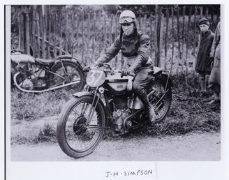 Jimmy Simpson aboard Norton number 37, 1924 Senior…