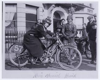Muriel Hind, reputedly the first woman in Britain…