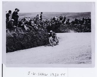J.W. Shaw, 1920 TT (Tourist Trophy)