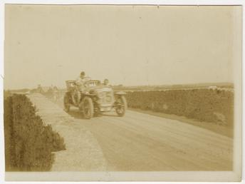 No.15, Tourist Trophy motorcar race at Sulby Bridge