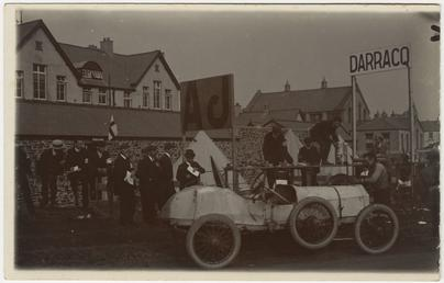Cyril Roberts' Arrol-Johnston,1908 Tourist Trophy motorcar race
