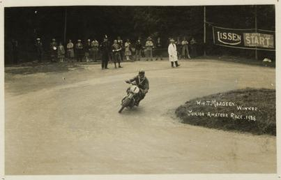 W.H.T. Meageen, winner, Junior 1928 TT (Tourist Trophy)