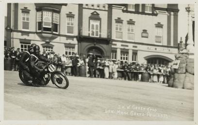 J.H.W. Greenwood, 1933 Senior Manx Grand Prix