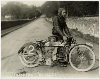 Thornton, TT (Tourist Trophy) rider with Douglas machine…