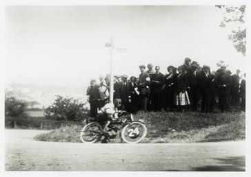 Rider number 24, possibly 1913 TT (Tourist Trophy)