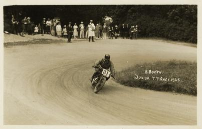 S.Booth aboard machine number 31, 1925 Junior TT…