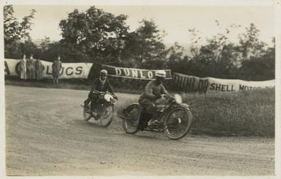 Two riders rounding Ramsey Hairpin, TT (Tourist Trophy)