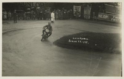 G.W.H. Merrill aboard machine number 20, 1928 Senior…