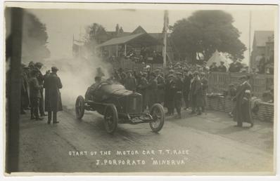 J. Porporato in a Minerva, 1914 Tourist Trophy…