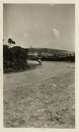 TT (Tourist Trophy) rider Dance approaching the Goose…