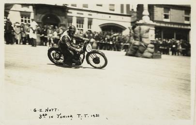 G.E. Nott riding machine number 18, 1931 Junior…