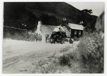 Rider number 54 passing over Ballig Bridge (?)…