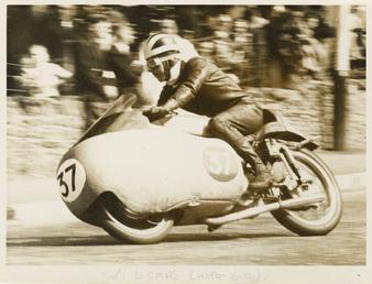 Bill Lomas aboard Moto Guzzi number 37 at…