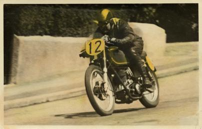 R. Lee on AJS machine number 12 at…