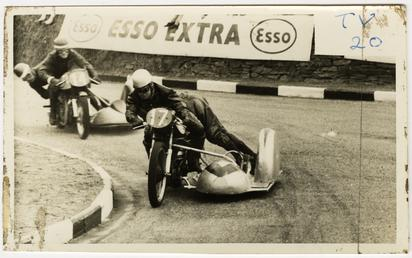 F.G Carrington and I.Paskin on Norton sidecar outfit…