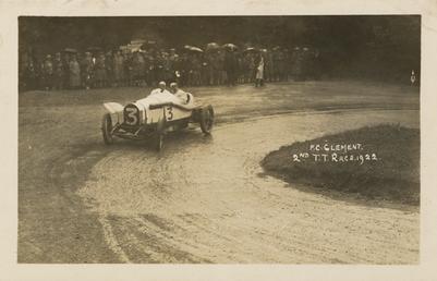 Motorcar no.3 F.C Clement in a Bentley, 1922…