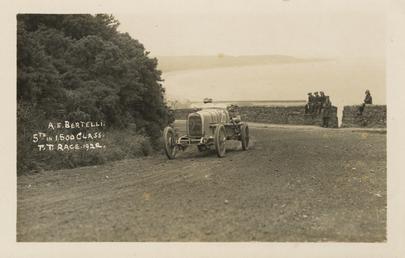 Motorcar no.25, A.E. Bertelli in an Endfield Allday,…