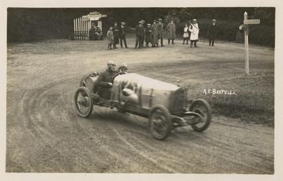 Motorcar no.25 A.E. Bertelli in an Enfield-Allday, Ramsey…