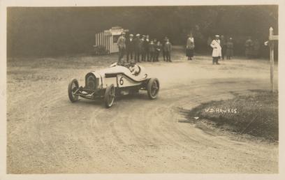 Motorcar no.6  W.D. Hawkes in a Bentley, Ramsey…