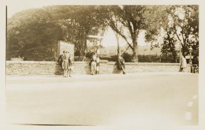 TT (Tourist Trophy) spectators at Braddan Bridge, c.1910