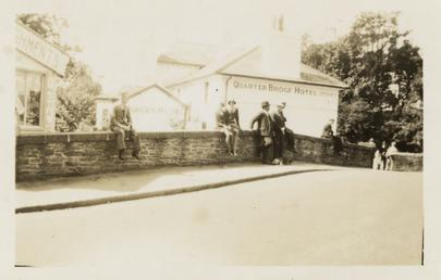 Spectators on a wall at Quarterbridge, TT (Tourist…