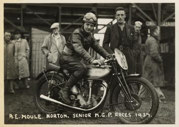A.E. Moule, Norton, 1937 Senior MGP (Manx Grand…