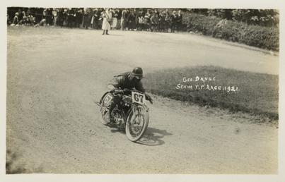 George Dance aboard machine number 67, 1921 Senior…