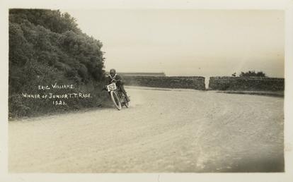 Eric Williams aboard machine number 52, 1921 Junior…